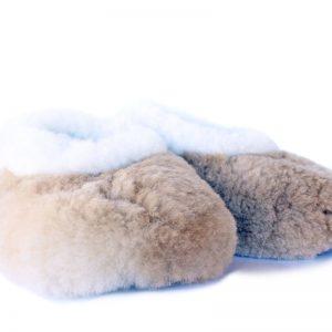 Pantoufles en fourrure alpaga